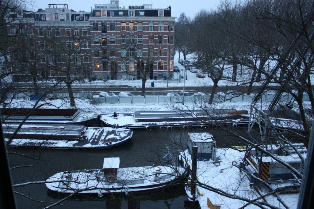 Bouw Singelgrachtgarage-Marnix: Winter Foto: Nils Swart